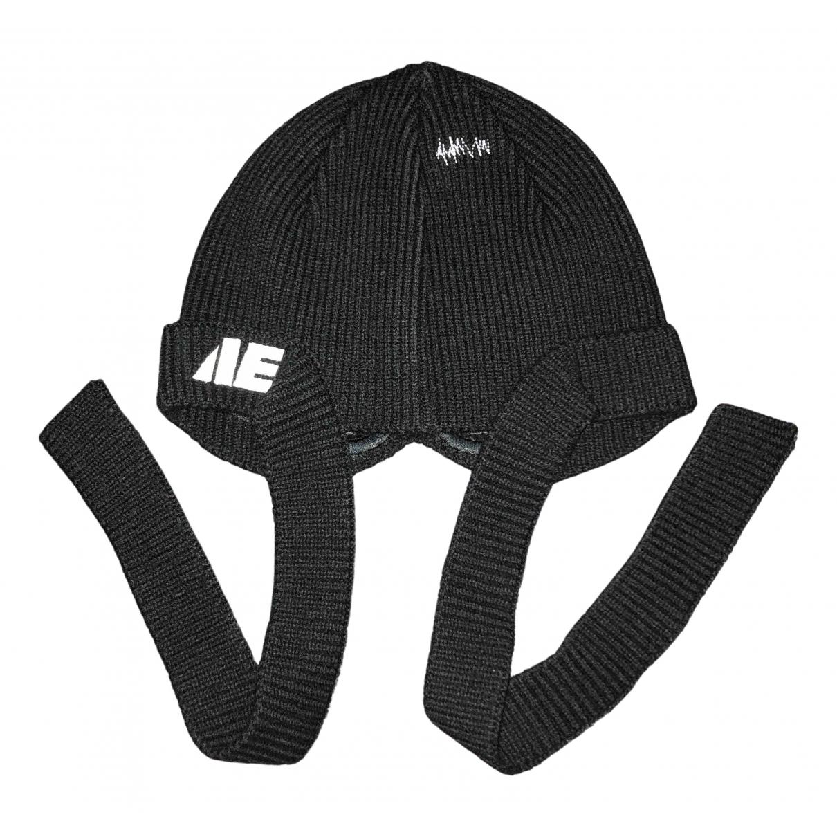 Ader Error - Chapeau & Bonnets   pour homme en laine - noir