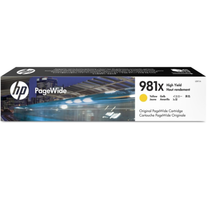 HP 981X L0R11A Original Yellow PageWide Ink Cartridge High Yield