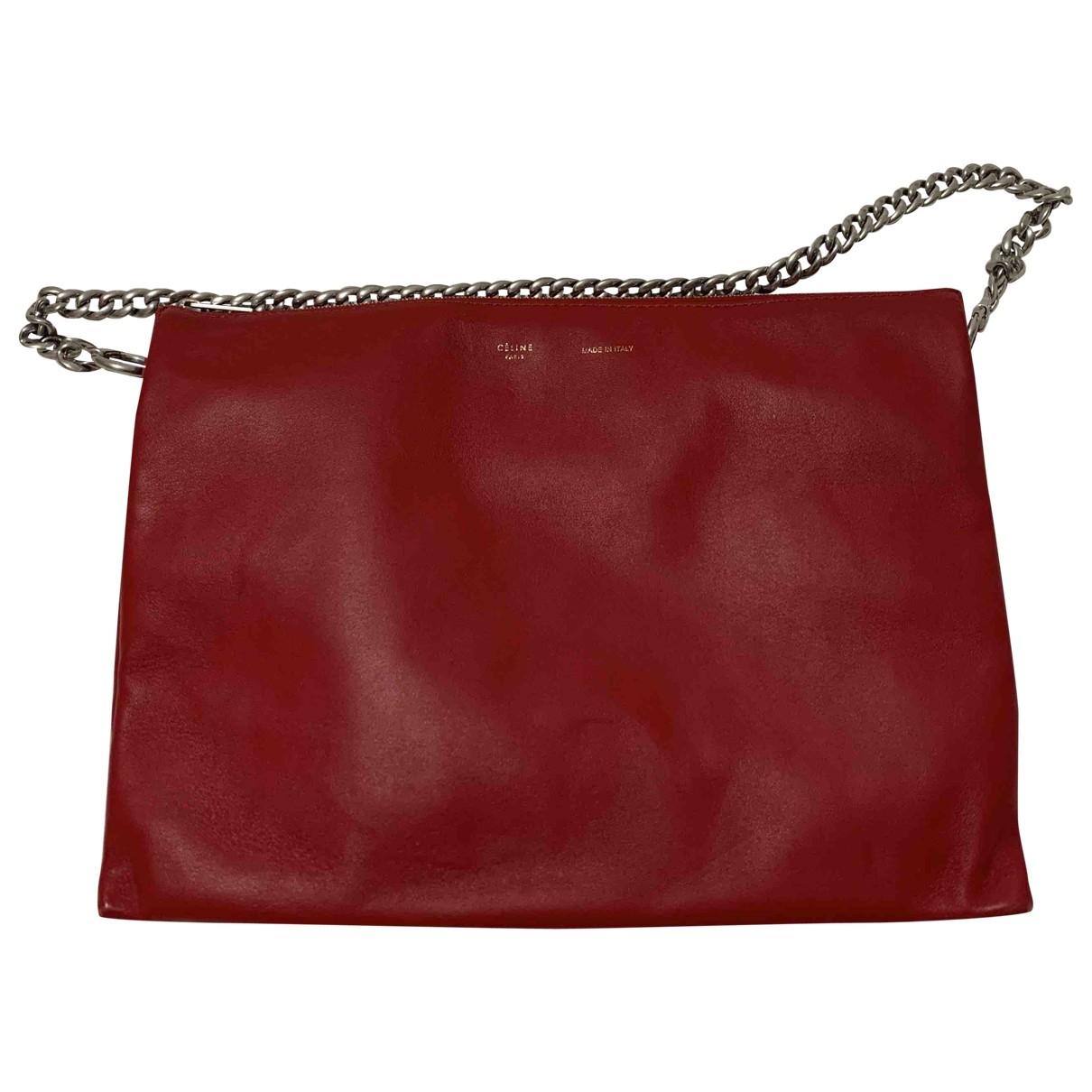 Celine Trio Red Leather handbag for Women \N