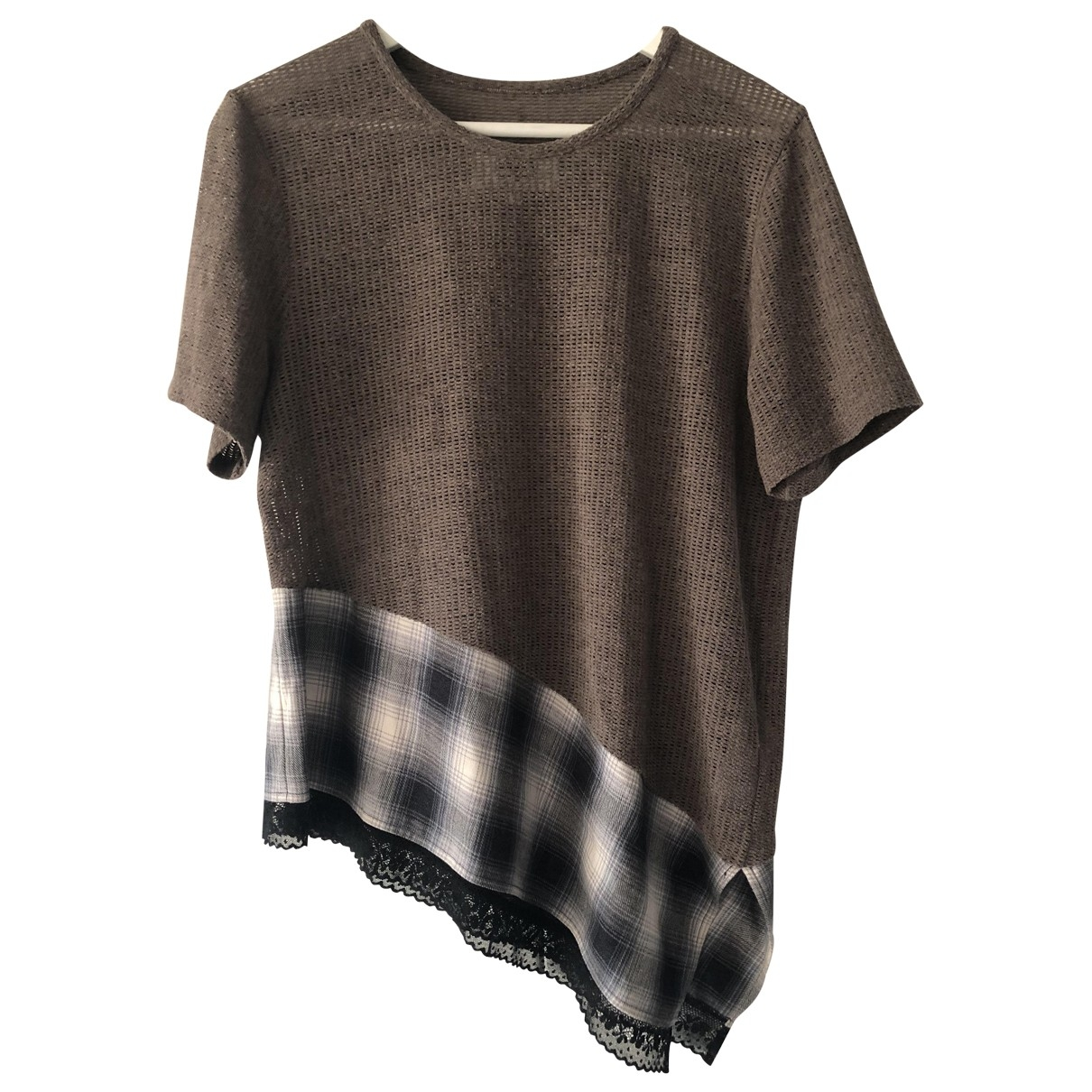 Mm6 \N Brown Cotton  top for Women M International