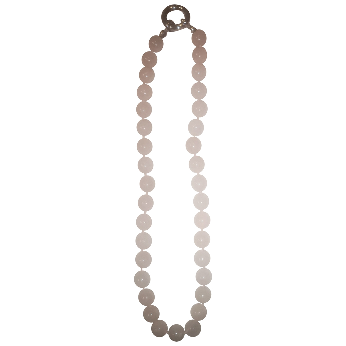 - Collier   pour femme en perles - beige
