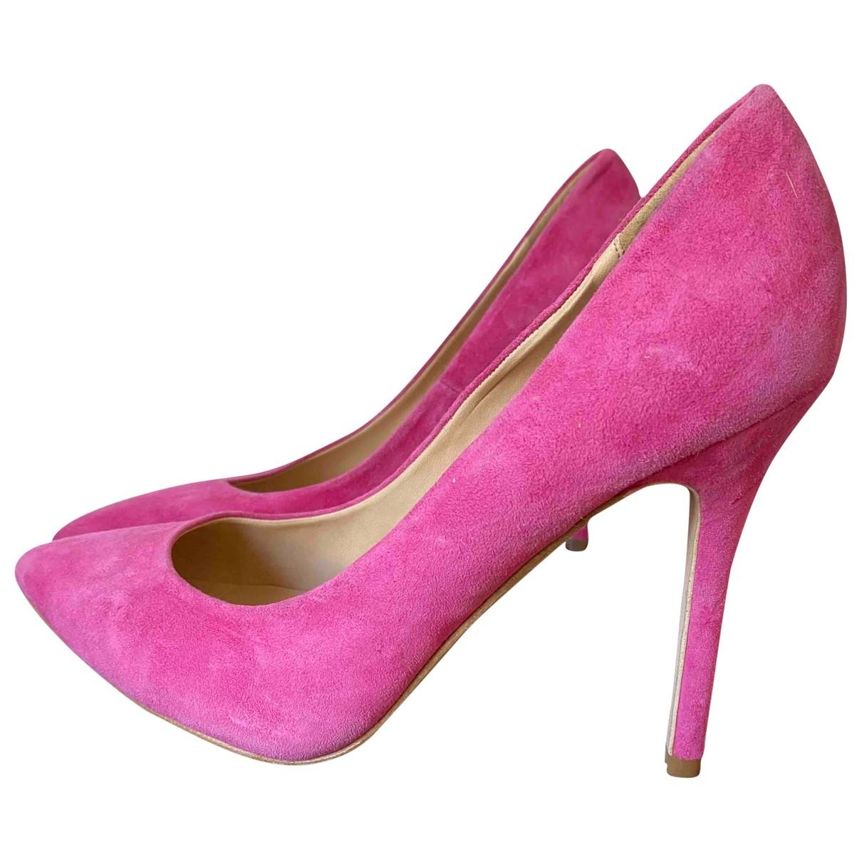 Topshop - Escarpins   pour femme en cuir - rose
