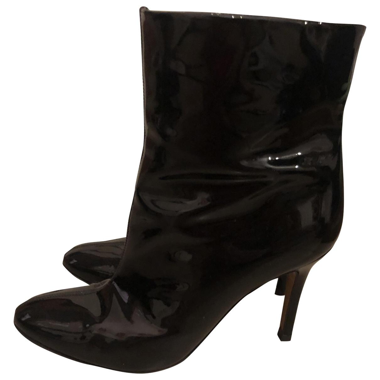 D&g - Boots   pour femme en cuir verni - bleu