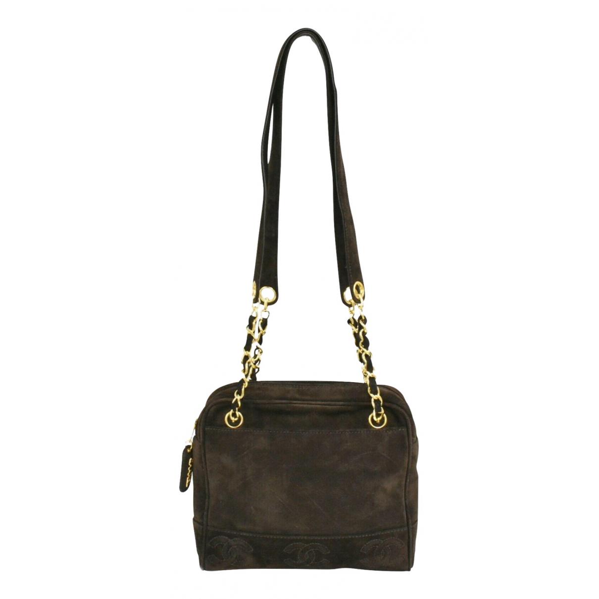 Chanel N Brown Suede handbag for Women N