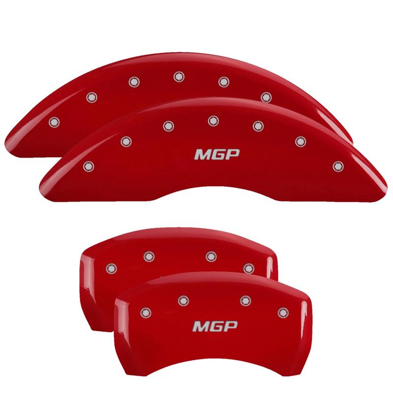 MGP Caliper Covers 10201SMGPRD Set of 4: Red finish, Silver MGP / MGP Ford