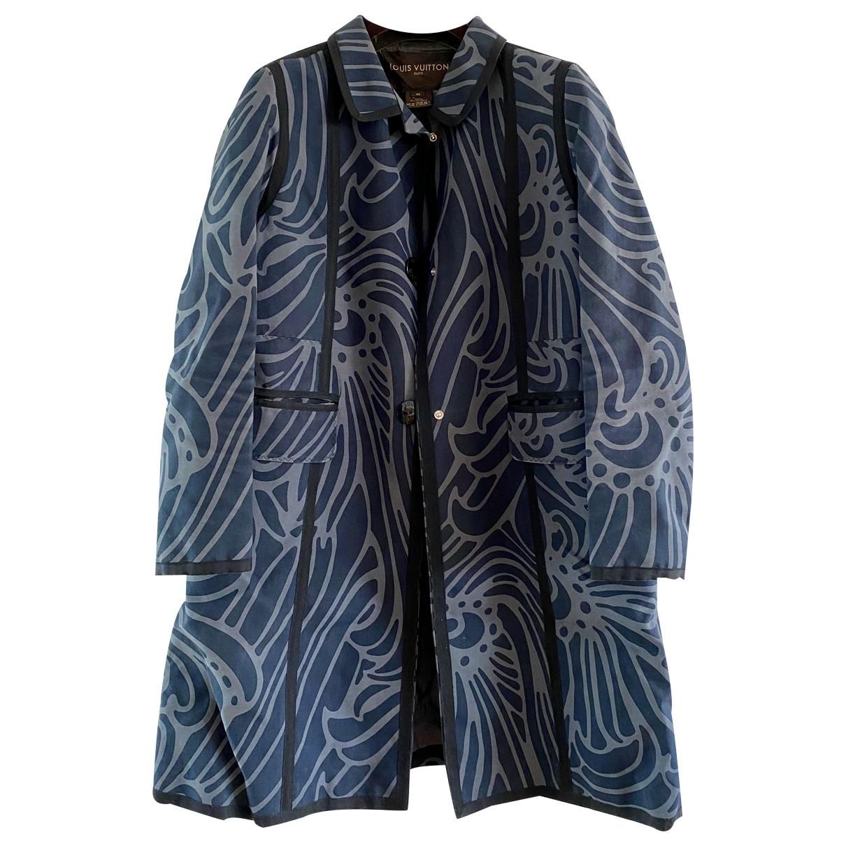 Louis Vuitton - Manteau   pour femme en coton - bleu