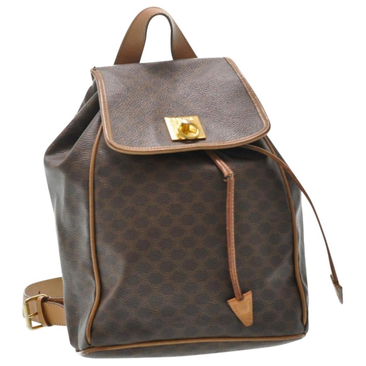 Celine \N Brown Cloth backpack for Women \N