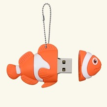 1pc Cartoon Fish Shaped USB Flash Drive
