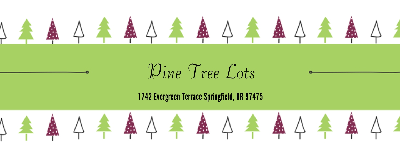 Seasonal Business Address Labels, Set of 36, Business Printing -Green Trees Pattern