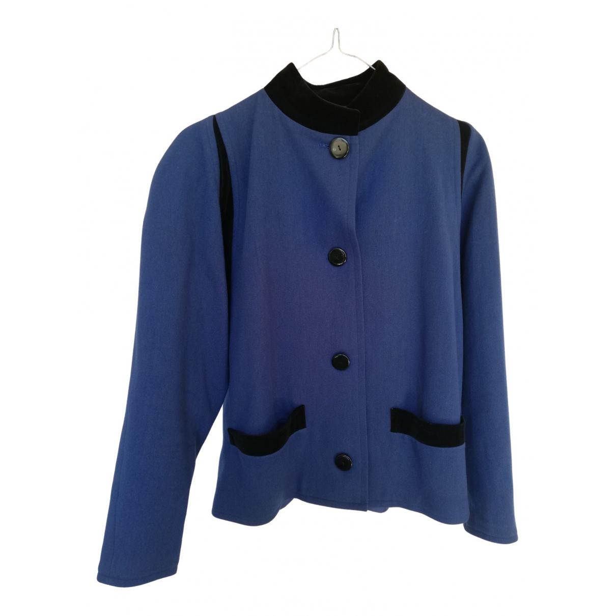 Lanvin - Veste   pour femme en laine - bleu