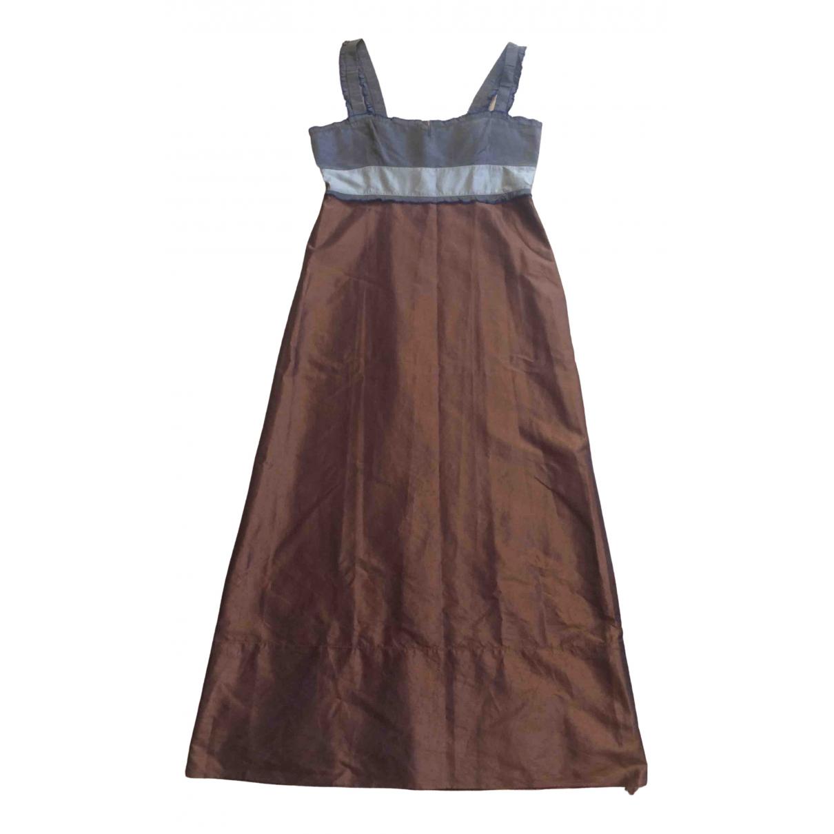 Miu Miu \N Brown Silk dress for Women 44 IT