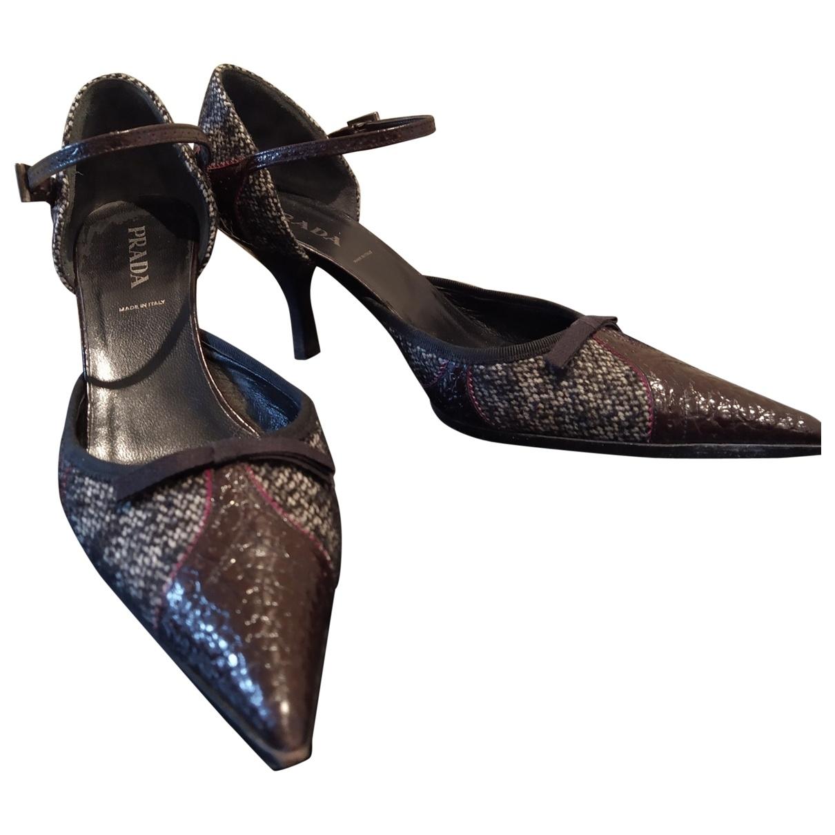 Prada - Escarpins Mary Jane pour femme en tweed - multicolore