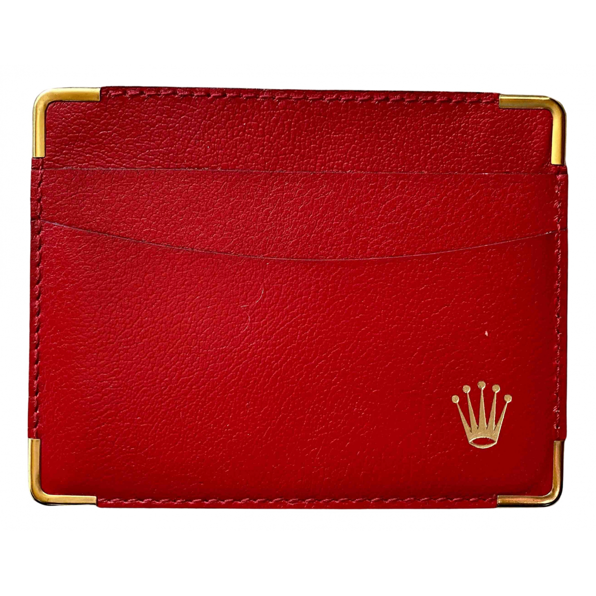 Rolex N Red Leather Purses, wallet & cases for Women N