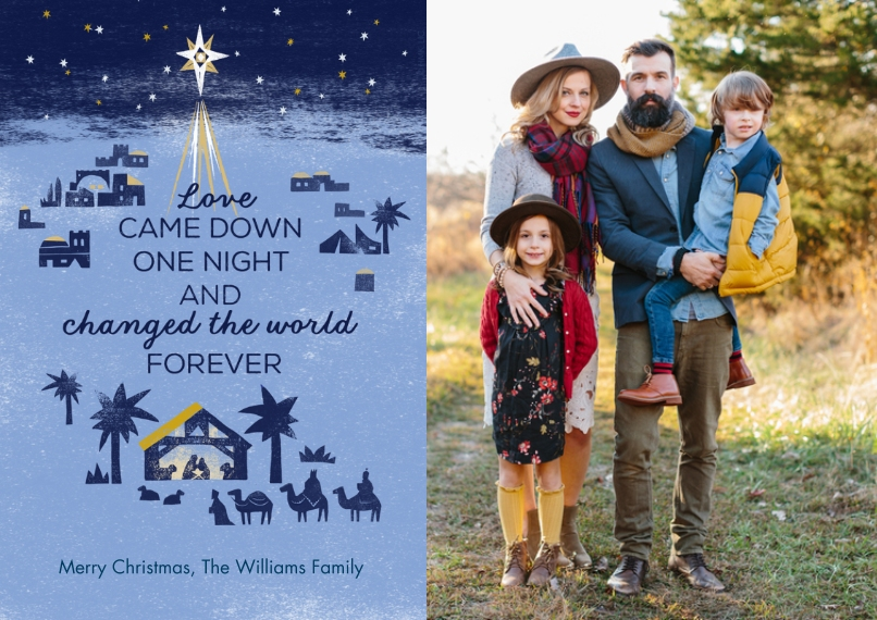 Christmas Photo Cards Flat Matte Photo Paper Cards with Envelopes, 5x7, Card & Stationery -Star of Bethlehem Nativity Scene Photo Card by Hallmark