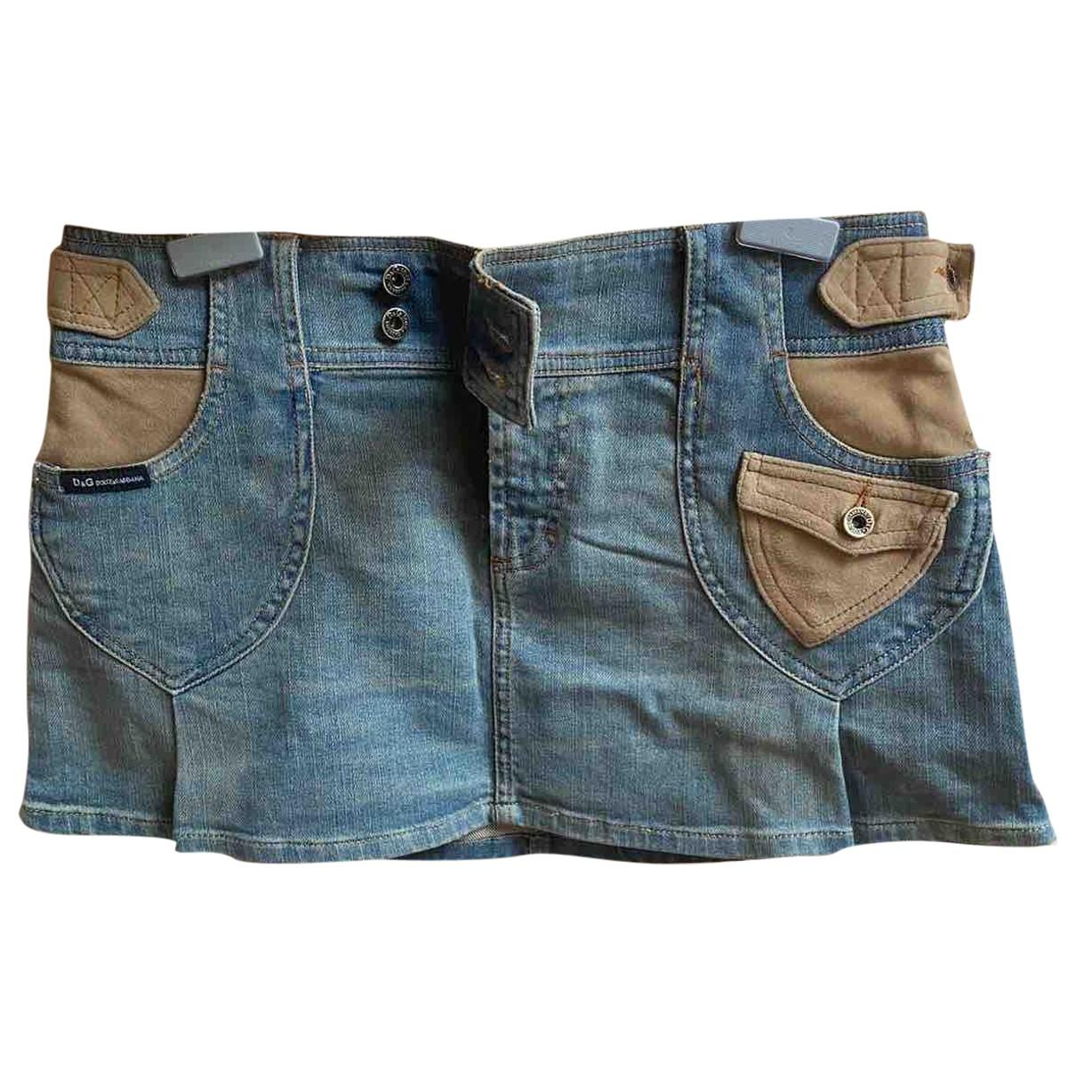 D&g \N Blue Cotton skirt for Women 40 IT