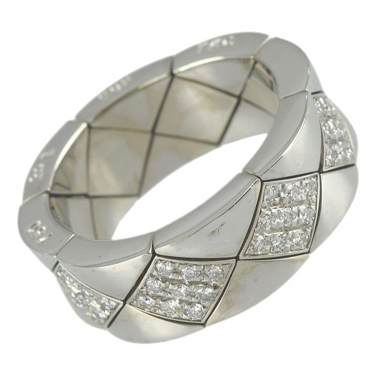Chanel - Bague Matelasse pour femme en or blanc - argente