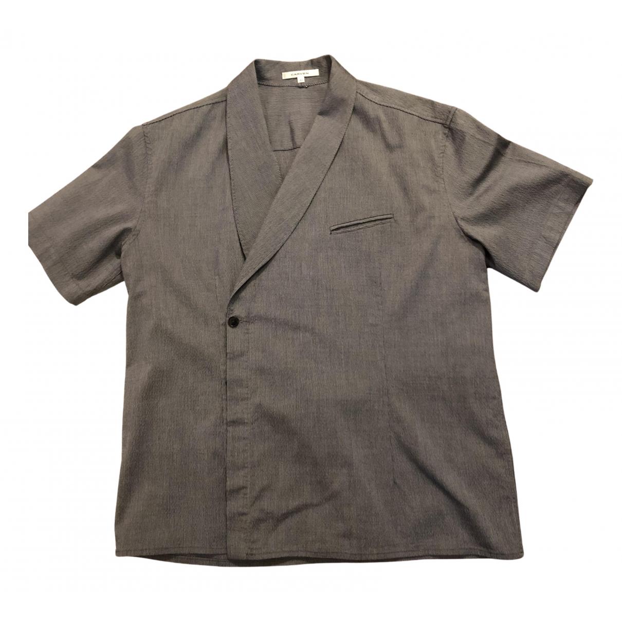 Carven - Chemises   pour homme en coton - gris