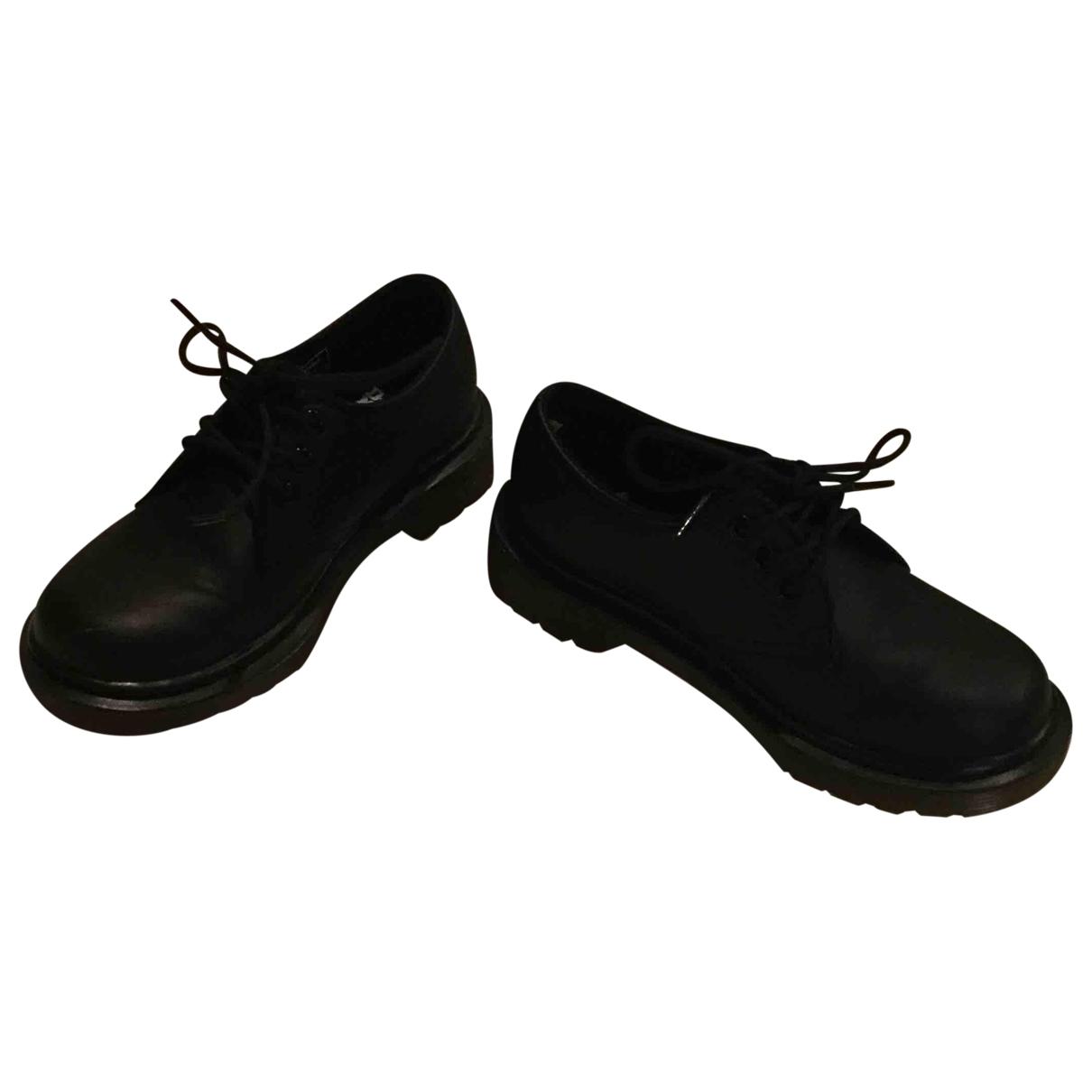 Dr. Martens - A lacets   pour enfant en cuir - noir