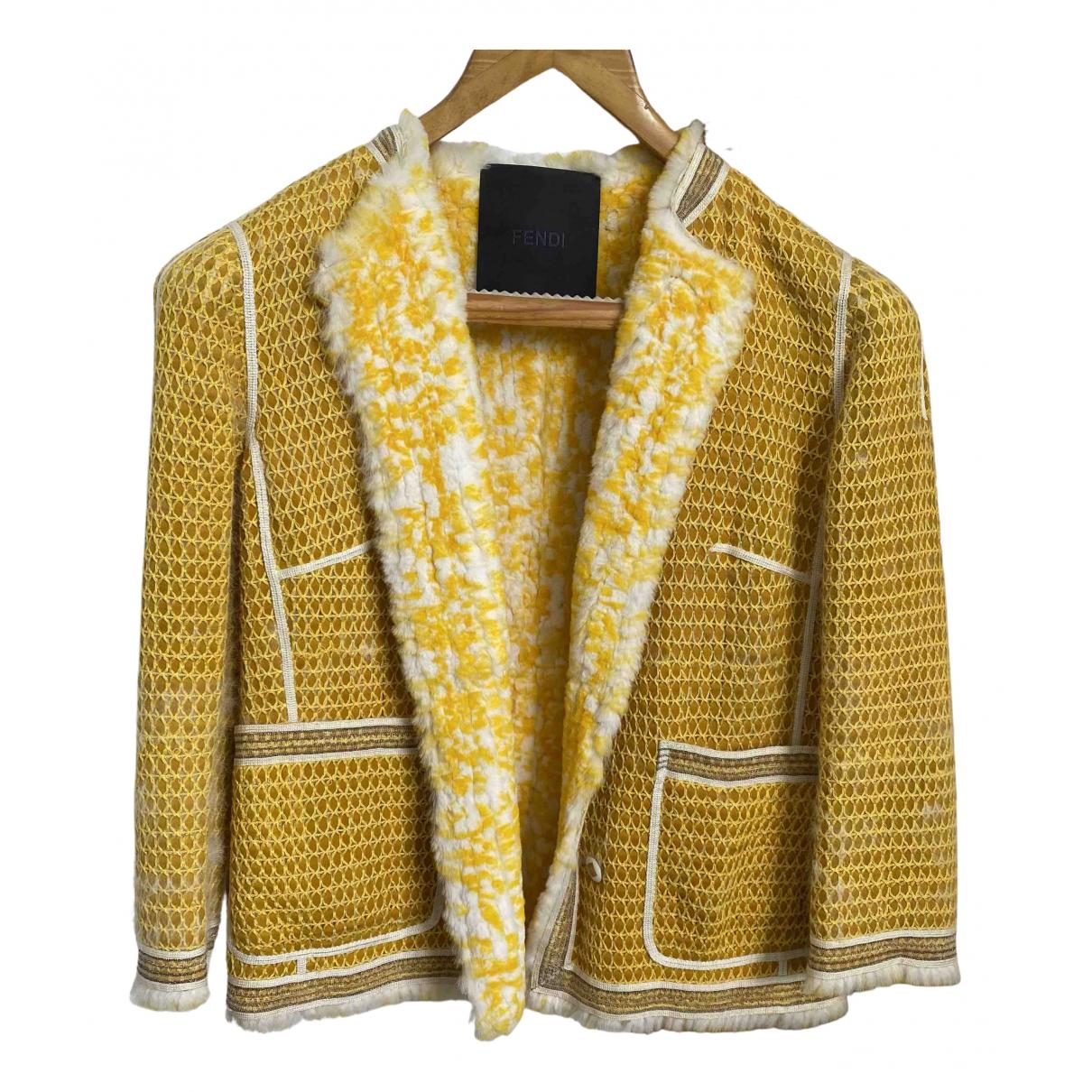 Fendi \N Jacke in  Gelb Baumwolle