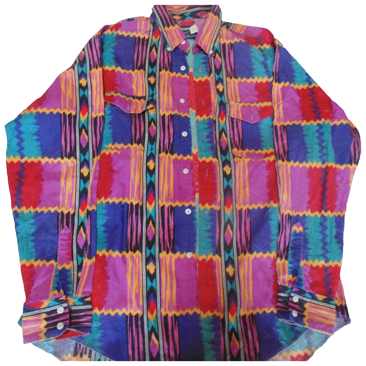 Wrangler \N Multicolour Cotton Shirts for Men 17 UK - US (tour de cou / collar)