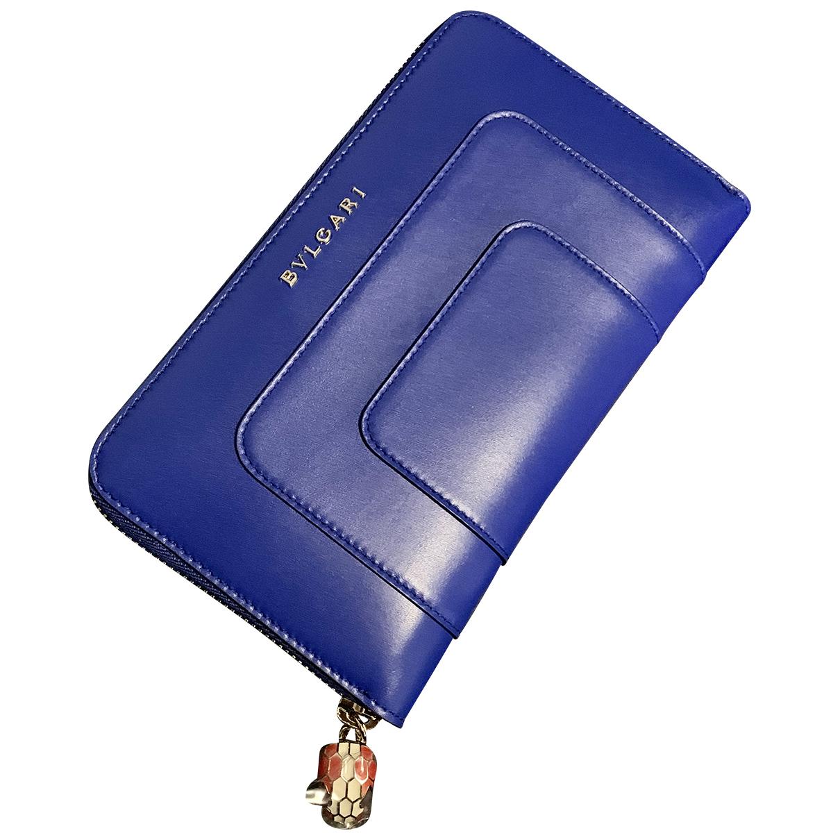 Bvlgari Serpenti Blue Leather wallet for Women N