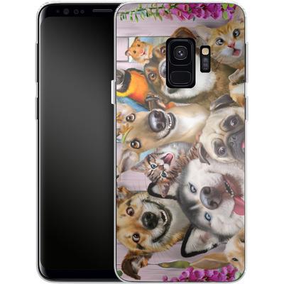 Samsung Galaxy S9 Silikon Handyhuelle - Pet Selfie von Howard Robinson