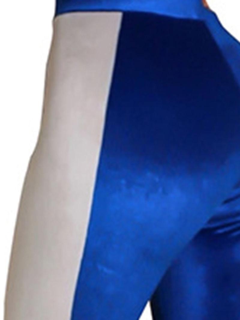 Ericdress Color Block Pencil Pants Zipper Slim Two Piece Sets