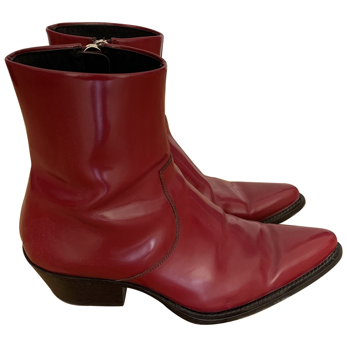 Calvin Klein 205w39nyc \N Red Patent leather Boots for Men 42 EU