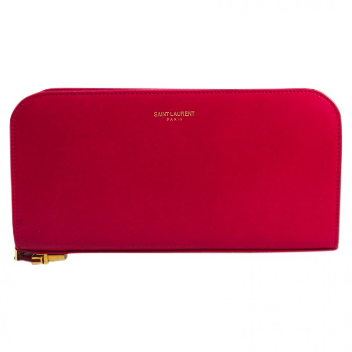 Saint Laurent N Pink Leather wallet for Women N