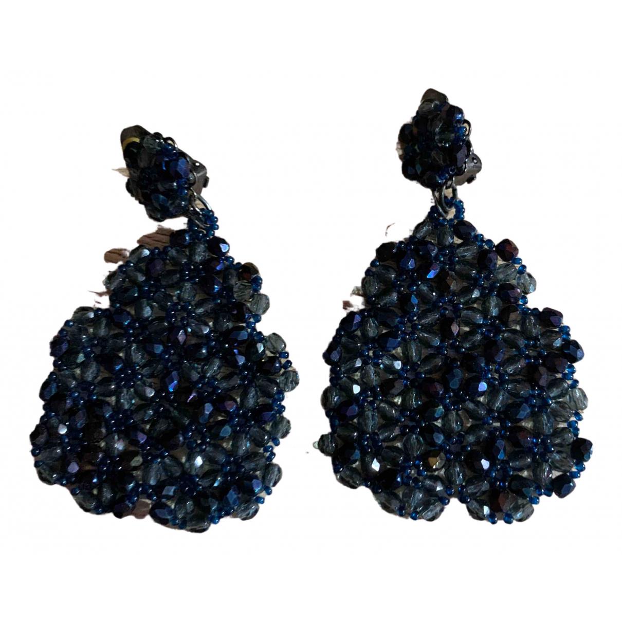 - Boucles doreilles   pour femme - bleu