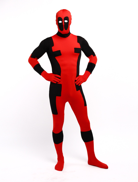 Milanoo Disfraz Halloween Halloween Deadpool Zentai Traje Lycra Spandex Superhero Entero BodySuit Power Ranger Halloween Carnaval Halloween