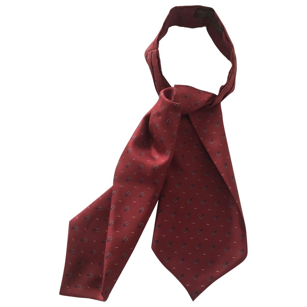 Gucci - Foulard   pour femme en soie - rouge