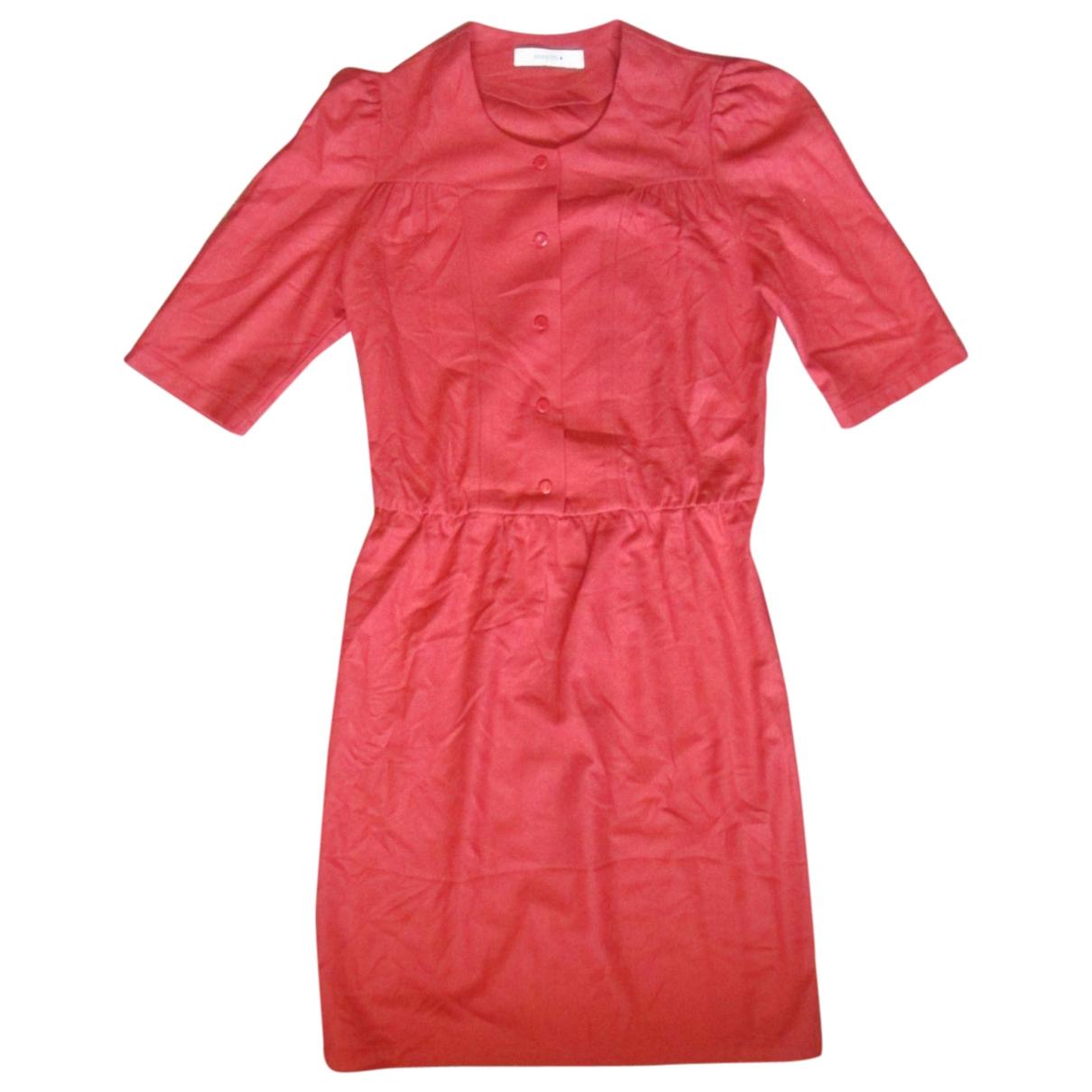 Sessun - Robe   pour femme en laine - orange