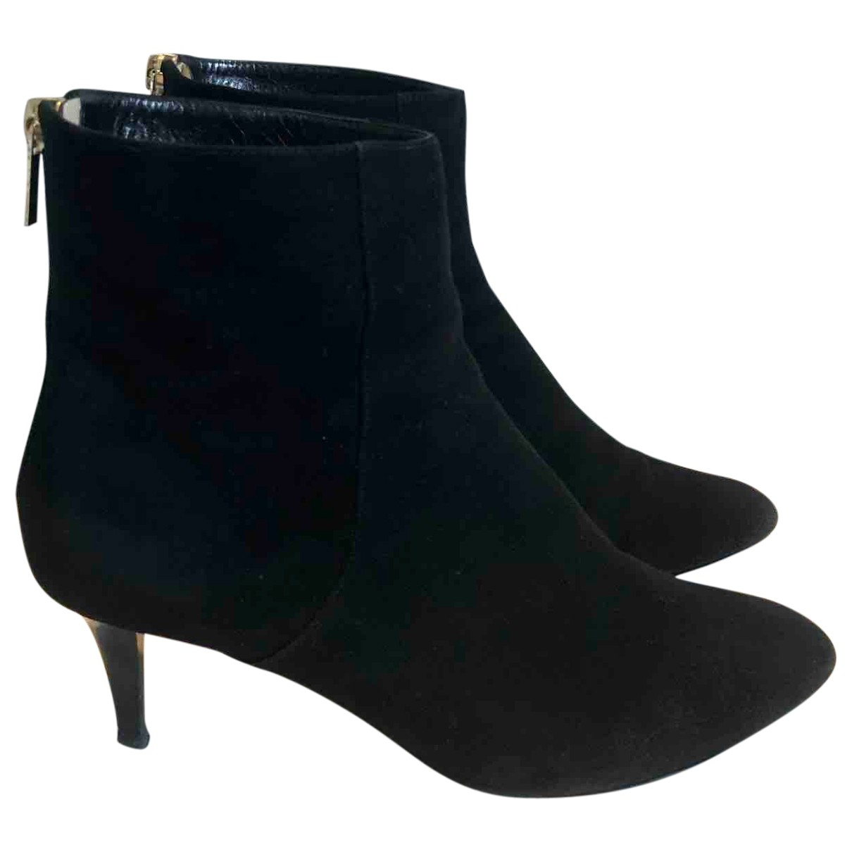 Jimmy Choo \N Black Suede Ankle boots for Women 38 IT