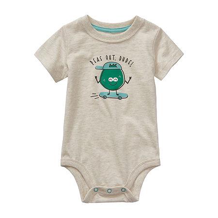 Okie Dokie Baby Boys Bodysuit, 3 Months , White