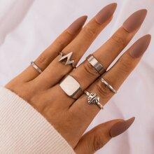 6pcs Leaf Ring