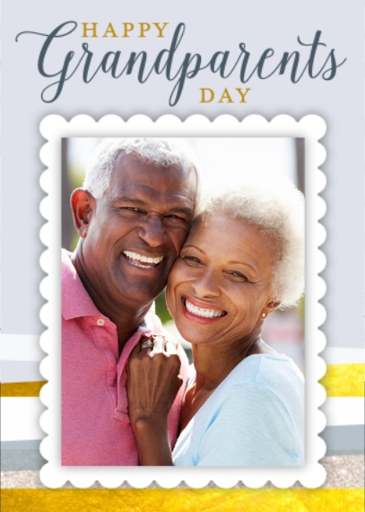 Grandparent's Day 5x7 Folded Cards, Standard Cardstock 85lb, Card & Stationery -Grandparents Day