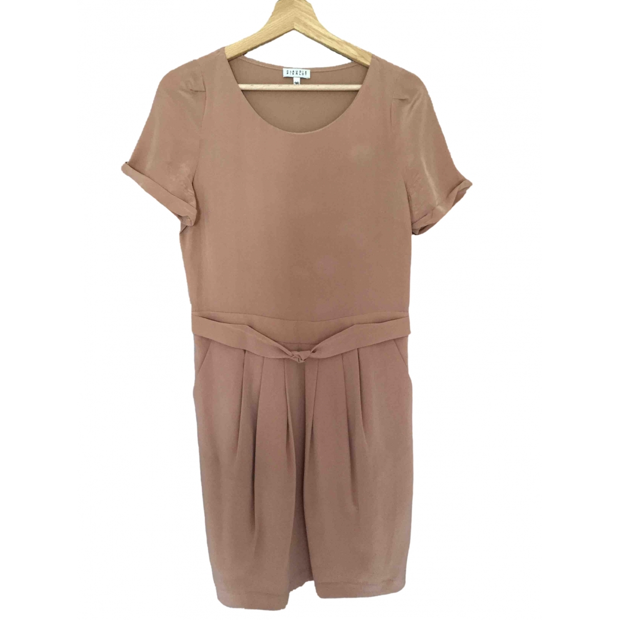 Claudie Pierlot \N Pink Silk dress for Women 36 FR
