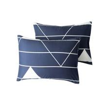 1 par funda de almohada con estampado de rayas sin relleno