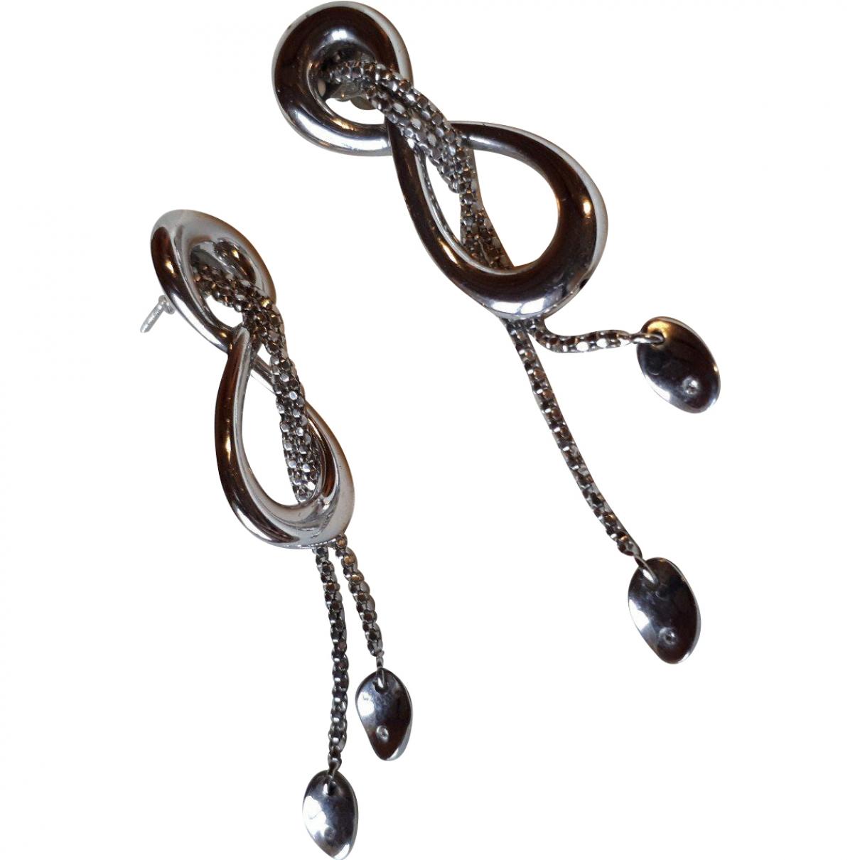 - Boucles d'oreilles   pour femme en argent - argente