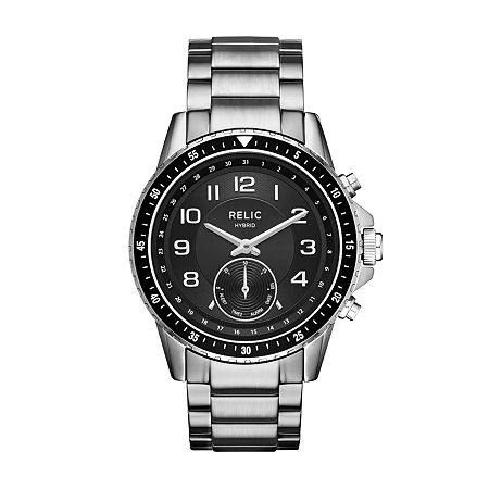 Relic By Fossil Duncan Mens Silver Tone Stainless Steel Smart Watch-Zrt1007, One Size , No Color Family