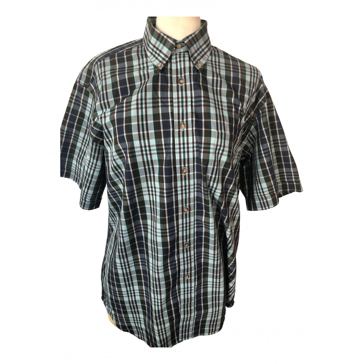 Burberry \N Blue Cotton Shirts for Men 41 EU (tour de cou / collar)