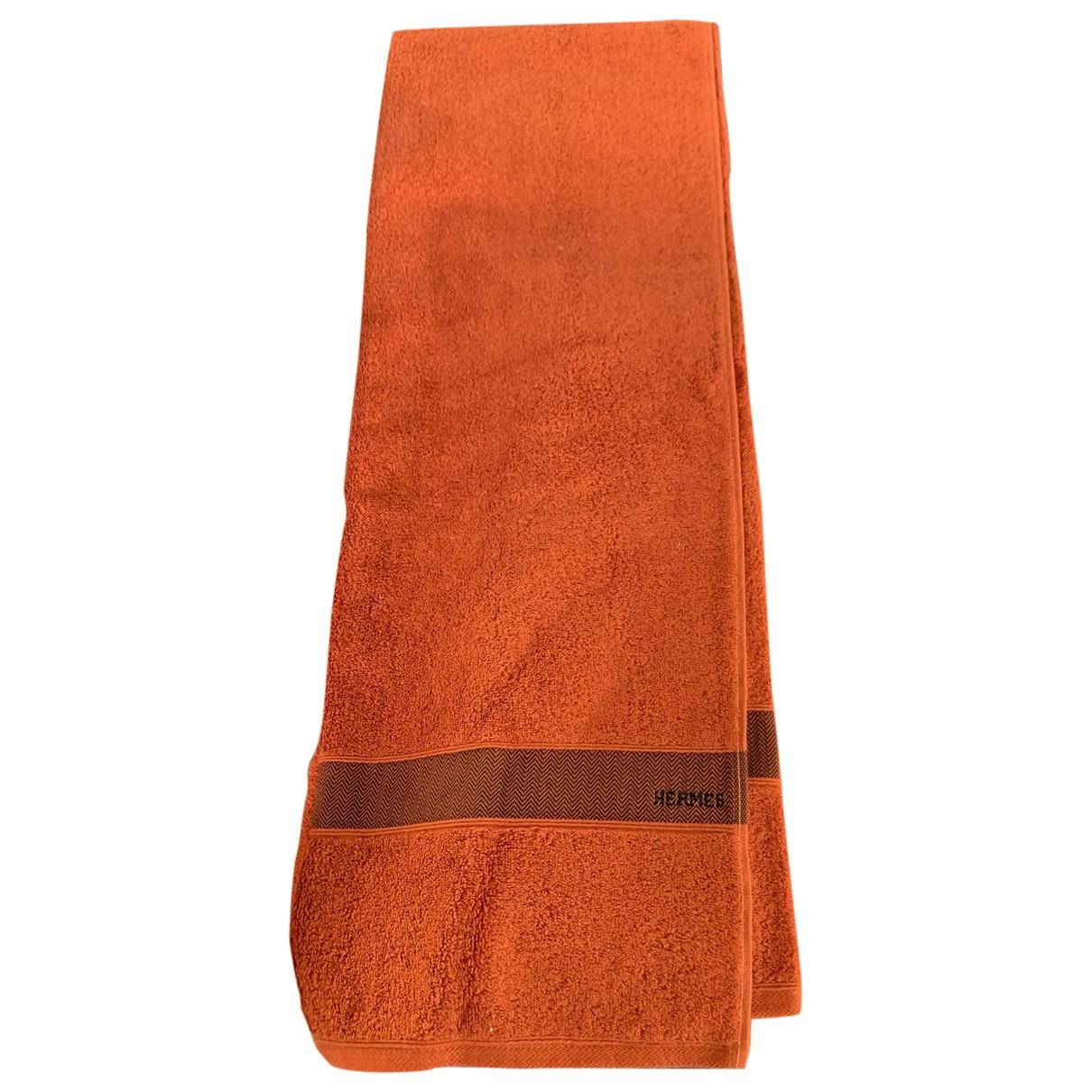 Hermes - Linge de maison   pour lifestyle en coton - orange