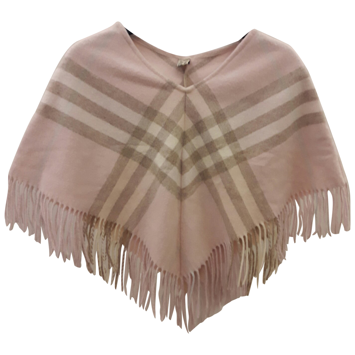 Burberry \N Jacke in  Rosa Wolle