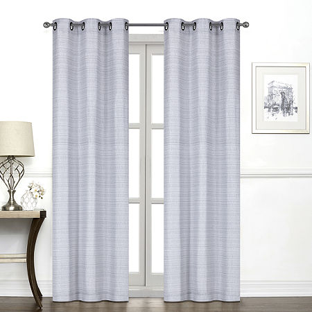 Regal Home York Light-Filtering Grommet-Top Single Curtain Panel, One Size , Gray