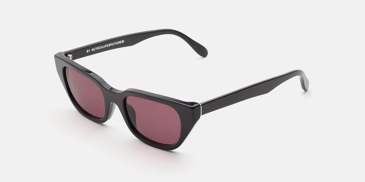 Retrosuperfuture CENTO BORDEAUX IJHC BD3 Men's Sunglasses Black Size 51