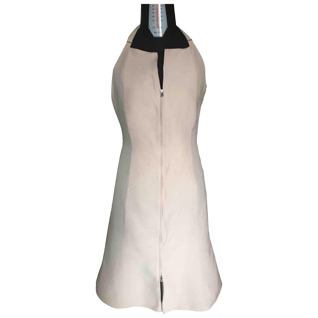 Armani Collezioni \N Pink Linen dress for Women 42 IT