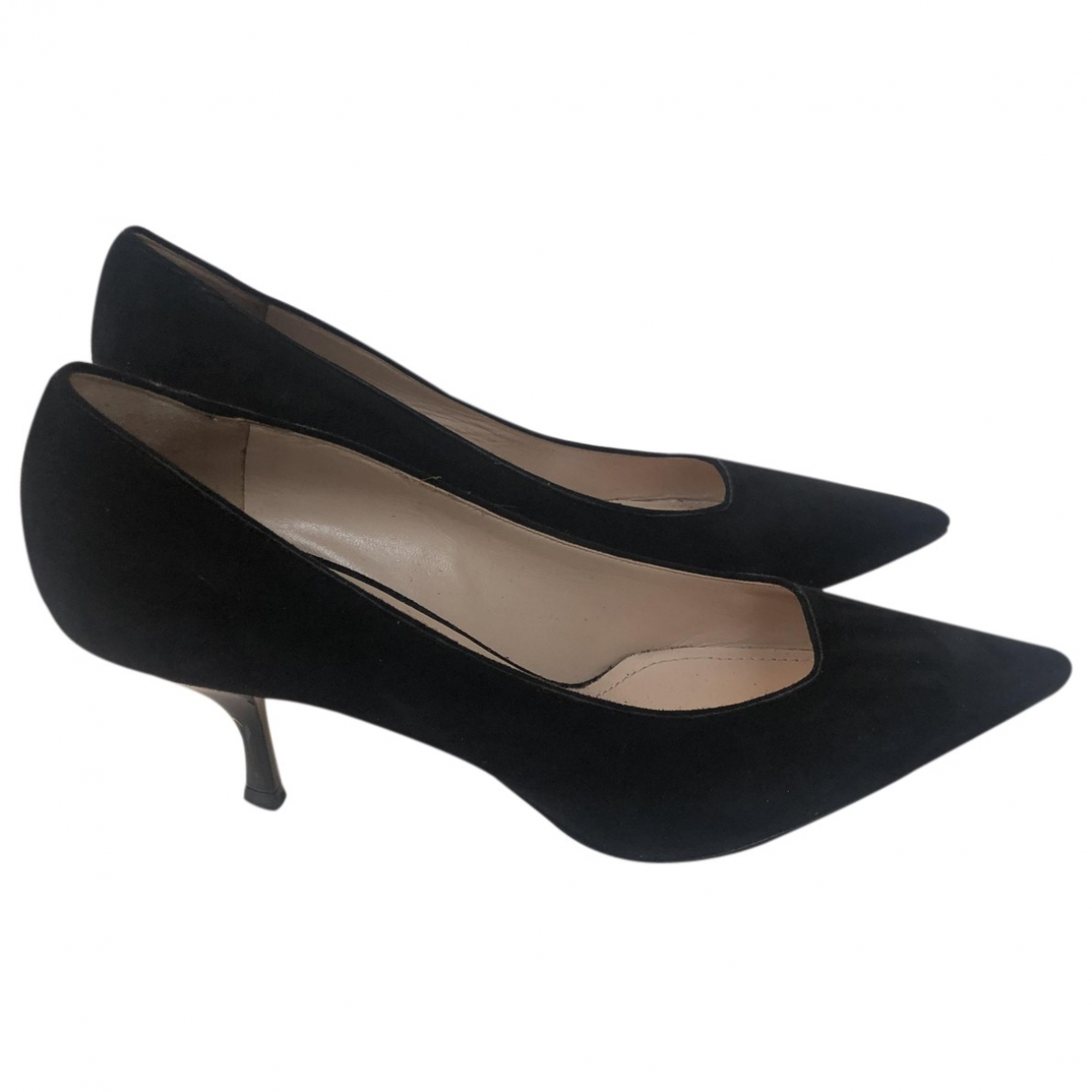 Miu Miu \N Black Suede Heels for Women 36.5 EU