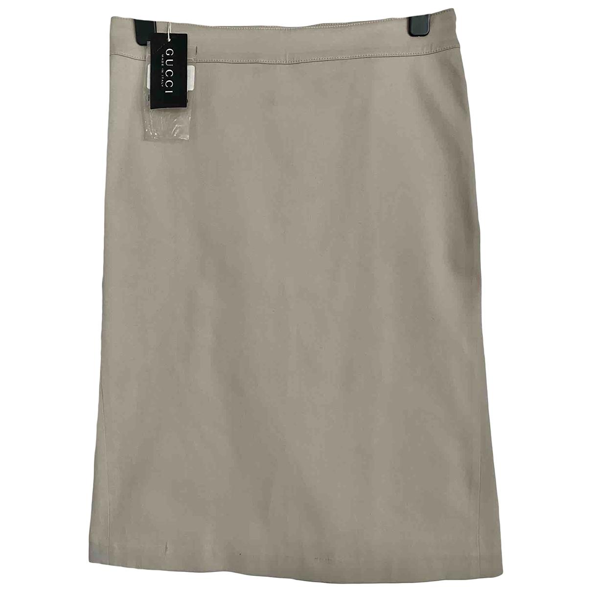 Gucci \N Beige Cotton skirt for Women 44 IT