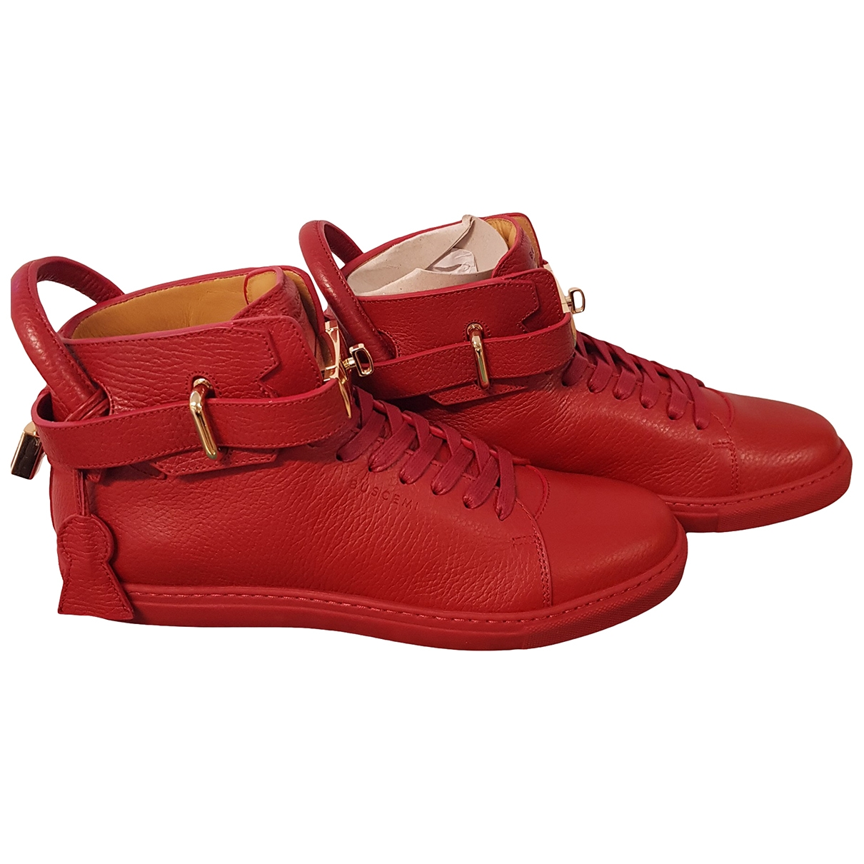 Buscemi \N Red Leather Trainers for Men 39 EU